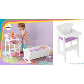Chaise haute pour poupées jusqu'à 48 cm