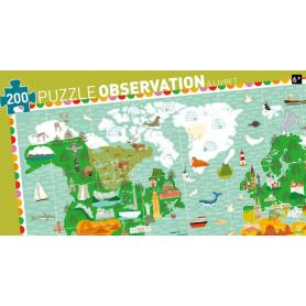 Puzzle observation Tour du monde avec livret (200 pièces)