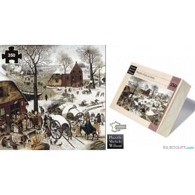 Le Dénombrement de Bethléem (Bruegel) Puzzle d'art en bois