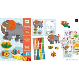 Coloriage pour les petits - Zoo zoo Design by Magali Attiogbé