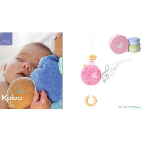 Balle musicale et son mini-patapouf rose - Kaloo Plume