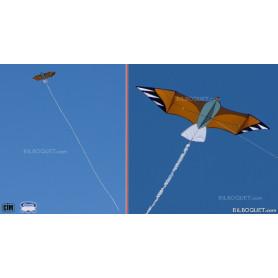 Grand Aigle Cerf-volant monofil pour vents légers