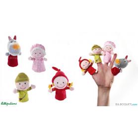 Marionnettes à doigts Chaperon rouge