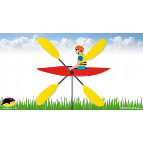 Éolienne de jardin WhirliGig Kayak 71cm