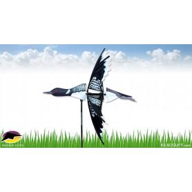 Eolienne Oiseau Plongeon Volant