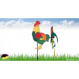 Eolienne de jardin Coq