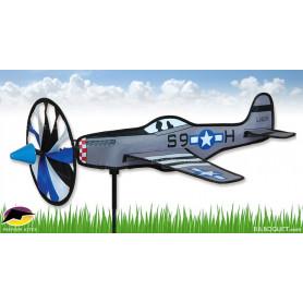 Eolienne de jardin Avion P-51 Mustang