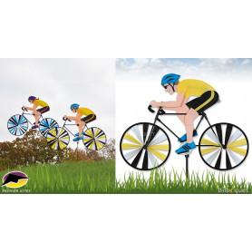 Homme sur son vélo de course Eolienne de jardin 55cm