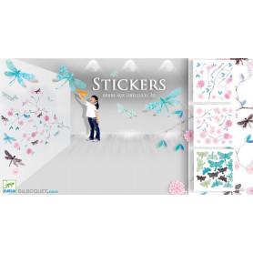 Stickers en volume Arbre aux libellules