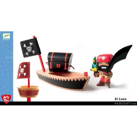 El Loco avec son canot & le trésor Arty toys pirates