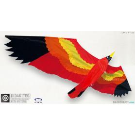 Grand oiseau rouge Cerf-volant monofil
