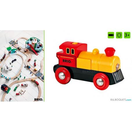 Locomotive à pile bi-directionnelle jaune