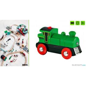 Locomotive à pile bi-directionnelle verte