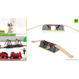 Pont catastrophe pour circuit de trains