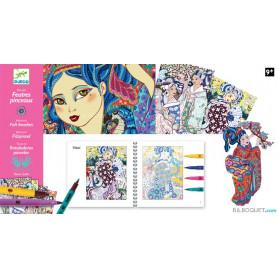 Feutres pinceaux Les jeunes filles aux cerisiers Design by Elene Usdin