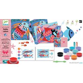 Sables colorés Arcs-en-ciel de poissons Design by Judith Gueyfier