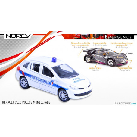 Clio Police Municipale Emergency Renault Norev zVGSqMpU