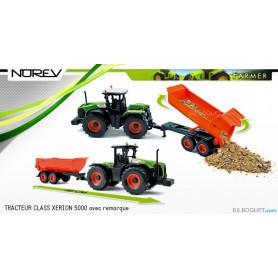 Tracteur CLAAS Xerion 5000 avec remorque 1:43 - Norev Farmer