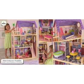 Maison de poupées KAYLA avec meubles