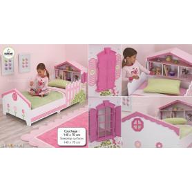 Lit maison de poupées pour tout-petits