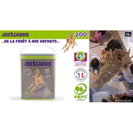 Baril de 200 planchettes Jouécabois + livret d'instructions