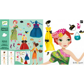 Stickers & Paperdolls Trop mode... Design By Peggy Nille