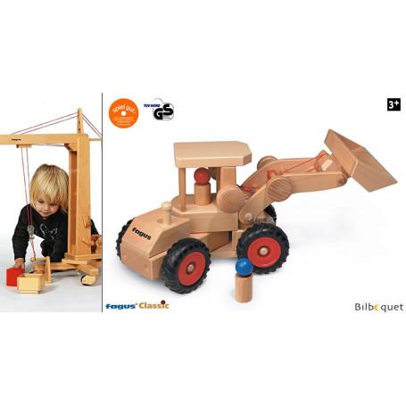 Chargeuse sur roues Véhicule de chantier en bois