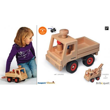Camion en bois Unimog (avec roues directrices)