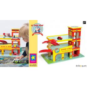 Le garage rouge de Dino - Jouet en bois