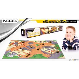 Tapis de jeu Construction + 1 véhicule - Norev Construction