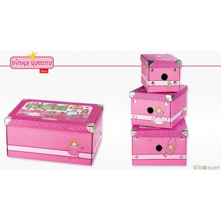 Set de 3 boîtes de rangement - Sigikid Pinky Queeny