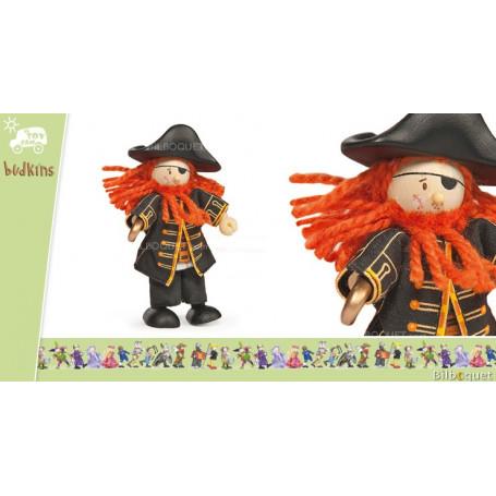Figurine Budkins Pirate Barberousse