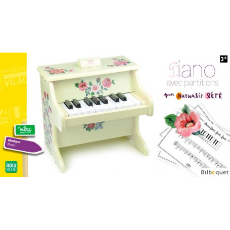 Le piano de Nathalie Lété - Jouet en bois avec partitions