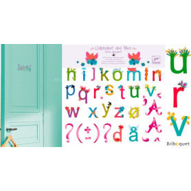120 Stickers repositionnables Alphabet des filles