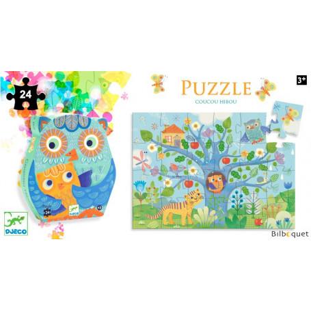 Coucou Hibou Puzzle silhouette 24 pièces