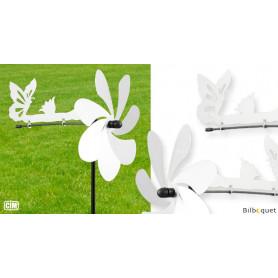 Éolienne de jardin en métal Silhouette Papillon