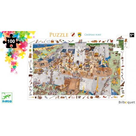 Puzzle Observation Le château fort 100 pièces avec poster