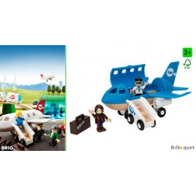 Avion de voyageurs avec 2 personnages