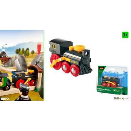 Locomotive noire à vapeur