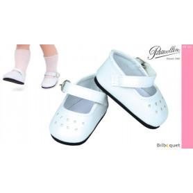 Paire de chaussures à bride coloris blanc - Petitcollin
