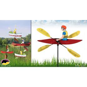 Éolienne de jardin WhirliGig Kayak 50cm