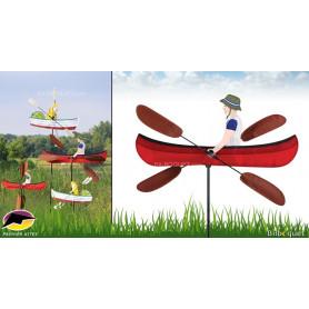 Éolienne décorative WhirliGig Canoë 50cm