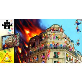 Puzzle 1000 pièces François Ruyer - Les pompiers