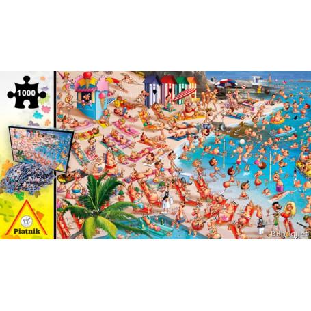 Puzzle 1000 pièces François Ruyer - La plage
