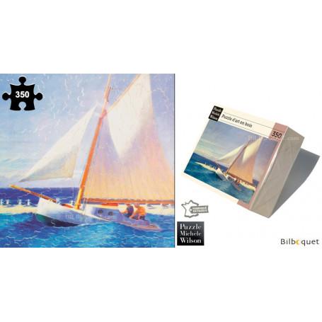 Le bateau à voile - Edward Hopper - Puzzle d'art en bois 350 pièces