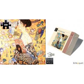 La dame à l'éventail - Gustav Klimt - Puzzle d'art en bois 350 pièces
