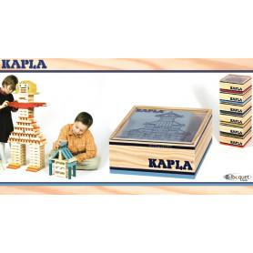 Coffret carré 40 planchettes Kapla couleur