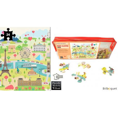 Paris Illustré - Magda - Puzzle 24 pièces en bois
