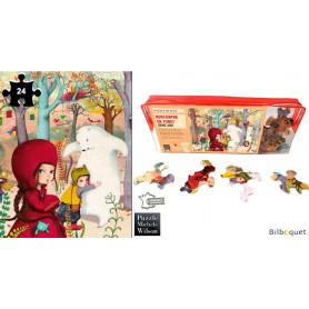 Rencontre en forêt - Sophie Lebot - Puzzle 24 pièces en bois