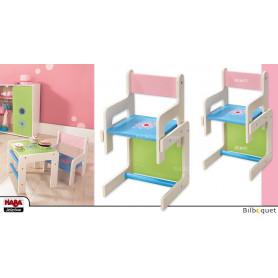 Chaise-haute pour poupée Fleur de pissenlit (ensemble table+chaise) - Haba Selection